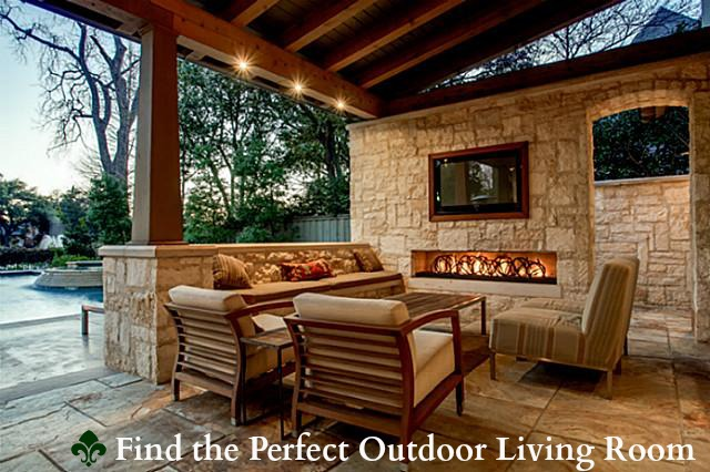 Plano Homes With Outdoor Living Area