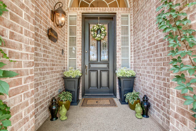 Modern Black Door Accessorized for Resale